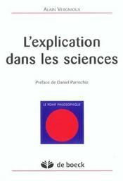 Explication Dans Les Sciences (L') - Intérieur - Format classique