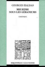 Meurtre Sous Les Geraniums - Couverture - Format classique