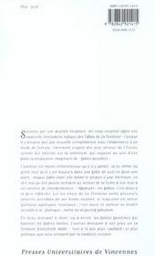 Lupus in fabula ; six facons d'affabuler La Fontaine - 4ème de couverture - Format classique