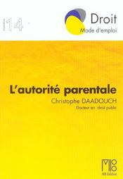 Autorite Parentale (L') - Intérieur - Format classique