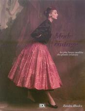 Mode vintage ; les plus beaux modèles des grands créateurs - Intérieur - Format classique