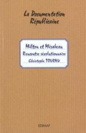 MILTON ET MIRABEAU : rencontre révolutionnaire - Couverture - Format classique