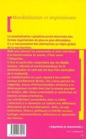 Mondialisation Et Imperialisme - 4ème de couverture - Format classique