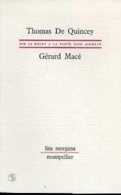 Sur Le Heurt A La Porte Dans Macbeth - Couverture - Format classique