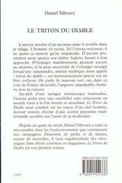 Le triton du diable - 4ème de couverture - Format classique