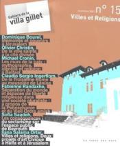 Villes et religions - Couverture - Format classique