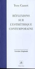 Reflexions Sur L Esthetique Contemporaine - Intérieur - Format classique