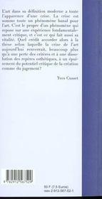 Reflexions Sur L Esthetique Contemporaine - 4ème de couverture - Format classique