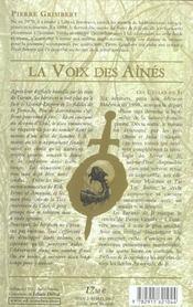 Voix des aines (la)- enfants de ji t3 - 4ème de couverture - Format classique