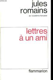 Lettres A Un Ami. - Couverture - Format classique