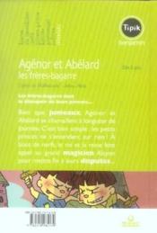 Agénor et Abélard ; les frères-bagarre - Couverture - Format classique