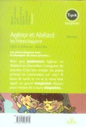 Agénor et Abélard ; les frères-bagarre - 4ème de couverture - Format classique