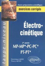 Electrocinetique 2e Annee Mp-Mp*-Pc-Pc*-Pt-Pt* Exercices Corriges - Intérieur - Format classique