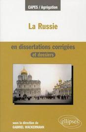 La Russie En Dissertations Corrigees Et Dossiers - Intérieur - Format classique