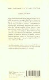 Monsieur Monod ; Scientifique Voyageur Et Protestant - 4ème de couverture - Format classique
