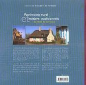 Patrimoine Rural Et Metiers Traditionnels Du Nord De La France - 4ème de couverture - Format classique