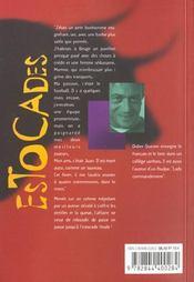 Estocades - 4ème de couverture - Format classique