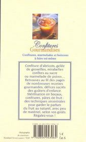 Confitures Et Gourmandises (Ae) - 4ème de couverture - Format classique