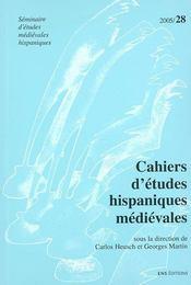 Cahiers d'etudes hispaniques medievales t.28 - Intérieur - Format classique
