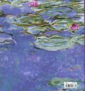 Claude Monet Nympheas - 4ème de couverture - Format classique