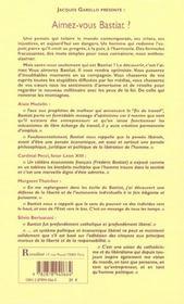 Aimez-vous Bastiat ? - 4ème de couverture - Format classique