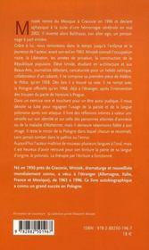 Balthazar, Autobiographie - 4ème de couverture - Format classique