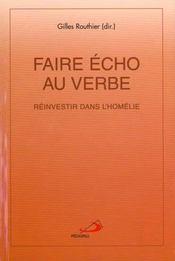 Faire Echo Au Verbe - Intérieur - Format classique