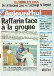 Aujourd'Hui En France N°561 du 03/04/2003 - Couverture - Format classique
