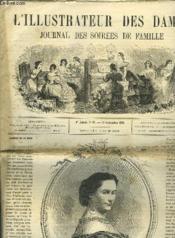L'Illustrateur Des Dames - Journal Des Soirees De Famille N°37 1re Annee - Couverture - Format classique