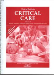 Clinical Briefs In Critical Care - Volume 9 - Couverture - Format classique