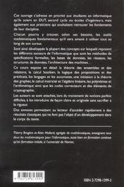 Mathematiques A L'Usage Des Informaticiens - 4ème de couverture - Format classique