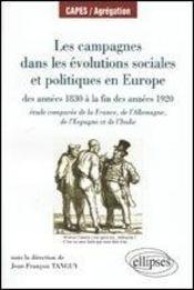 Les campagnes dans les évolutions sociales et politiques en europe 1830 à la fin des années1920 - Intérieur - Format classique