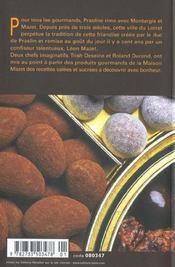 Les Praslines De Montargis - 4ème de couverture - Format classique