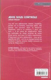 Ados sous contrôle - 4ème de couverture - Format classique