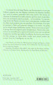 Le Dernier Livre De Sergi Pamies - 4ème de couverture - Format classique
