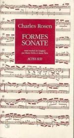 Formes sonate - Couverture - Format classique