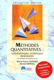 Methodes Quantitatives - Intérieur - Format classique