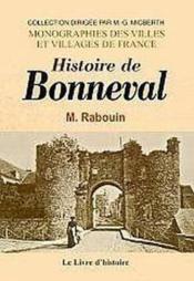 Bonneval (Histoire De) - Couverture - Format classique