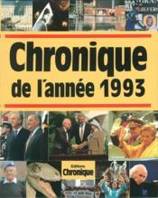 Chronique de l'année 1993 - Couverture - Format classique
