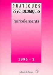 Pratiques Psycho.96-3 Harcelements - Couverture - Format classique