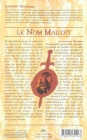 Les eres de wethrin t.1 ; le nom maudit - 4ème de couverture - Format classique