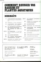 Comment Reussir Vos Bassins Et Plantes Aquatiques - Couverture - Format classique
