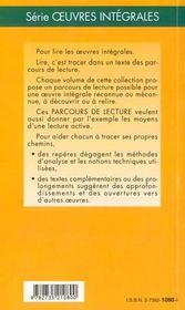 Le père Goriot, d'Honoré de Balzac - 4ème de couverture - Format classique