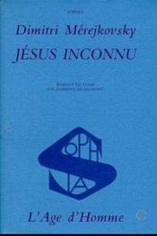 Jesus Inconnu - Couverture - Format classique