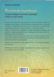 Paroles de coquillages - 4ème de couverture - Format classique
