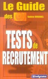 Le guide des tests de recrutement - Intérieur - Format classique