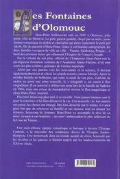 Les fontaines d'olomouc t.1 ; le cavalier morave - 4ème de couverture - Format classique