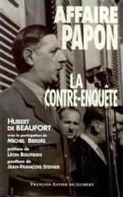 Contre-Enquete Sur L'Affaire Papon - Couverture - Format classique