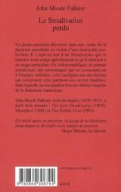 Le stradivarius perdu - 4ème de couverture - Format classique