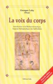 Voix Du Corps - Biohermeneutique - Intérieur - Format classique